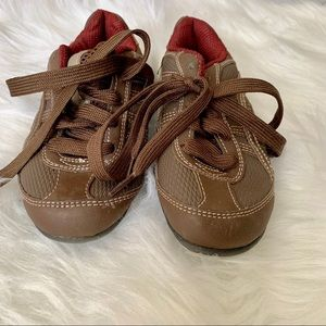 SMARTFIT Boys Kids Toddler Brown Lace Sneakers 11